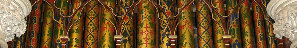 Header graphic of Organ pipes at All Saints Turvey