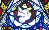 Chancel stained glass - the dove